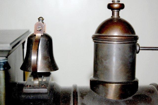 101A: Large Iron 3 Function Locomotive Clock - 8