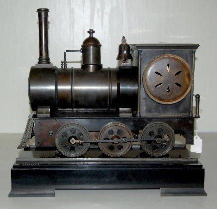101A: Large Iron 3 Function Locomotive Clock - 9