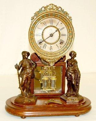 102: Ansonia Crystal Palace Fisher & Hunter Clock