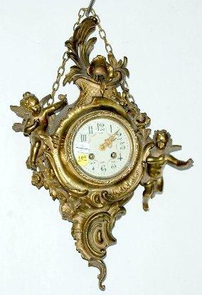 105: French Cartel Clock with Cherubs