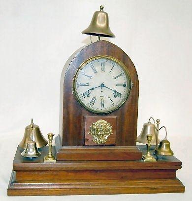 105A: Walnut Sonnerie 5 Bell Striking Shelf Clock