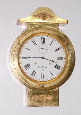 108A: Seth Thomas Brass Hanging Ship's Clock