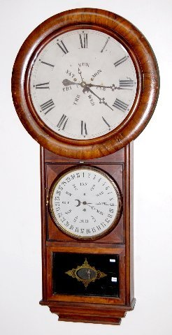 "113A: 60"" Welch B.B. Lewis Calendar Clock"