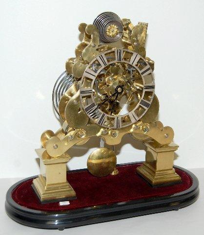 147: English Nested Bell Skeleton Clock