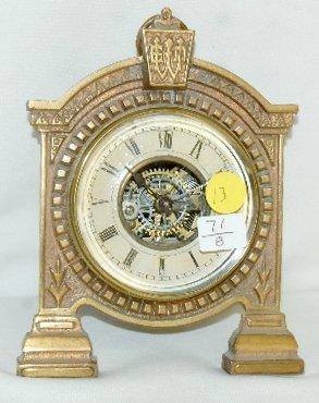 """13: """"Le Roi"""" E. N. Welch Novelty Clock"""