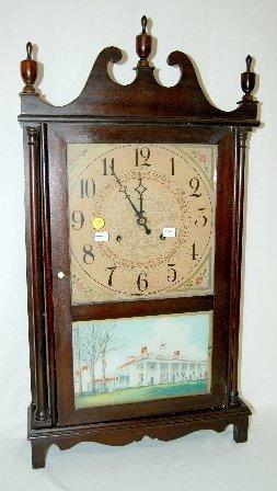 110F: Gilbert Antique Pillar and Scroll Clock