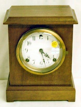 103: Sessions Antique Porcelain Dial Clock