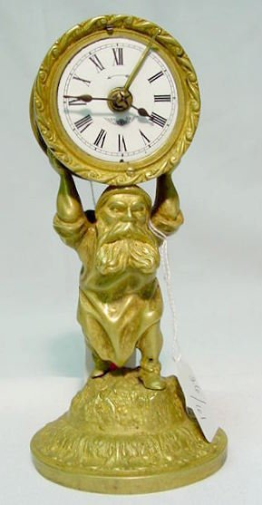 3: Becker  Bronze Figural Gnome with Alarm NR