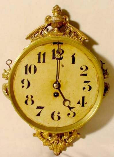 17: French Double Sided Hanging Clock NR