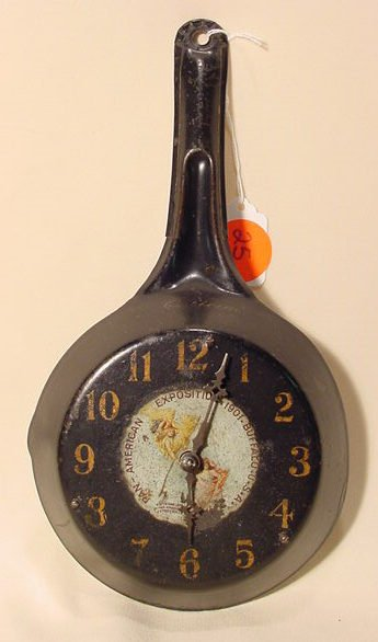 25: Pan-American Exposition Frying Pan Clock 1901 NR