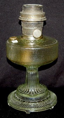 "5: Aladdin B-104 Clear Beta Crystal ""Colonial"" Lamp"