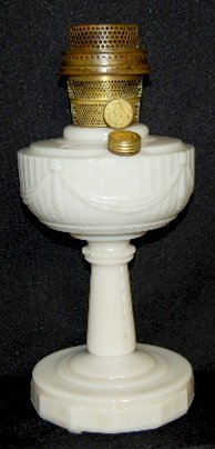 "7: Aladdin B-75 Alacite ""Tall Lincoln Drape"" Lamp"