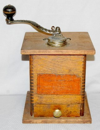 8: Table Top Wood & Metal Pound Coffee Mill