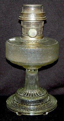 "15: Aladdin B-104 Clear Beta Crystal ""Colonial"" Lamp"