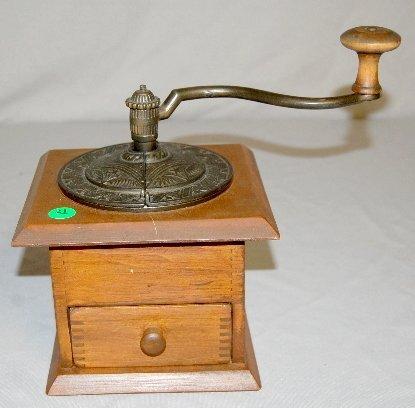 21: Table Top Wood & Metal Coffee Mill