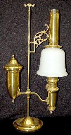 145: Aladdin 75th Anniversary Brass Student Lamp