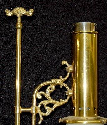 145: Aladdin 75th Anniversary Brass Student Lamp - 2