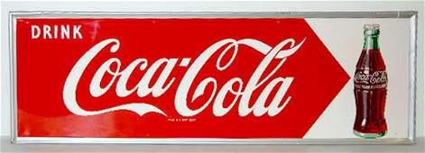 "193: 1950's Tin ""Drink Coca Cola"" Sign"