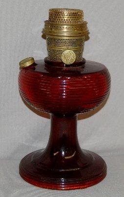 "196: Aladdin B-83 Ruby Beta Crystal ""Beehive"" Lamp"