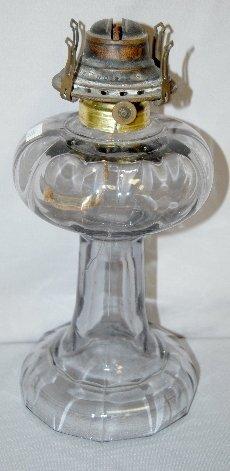 336: 5 Antique Kerosene Lamps, Clear, Various Patterns - 4