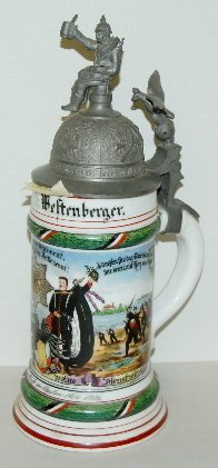 356: German Regimental Lithophane Stein, 1906