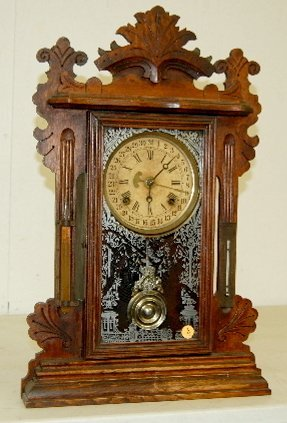 "3: Ansonia ""Jupiter"" Mantel Clock w/ Calendar Dial"