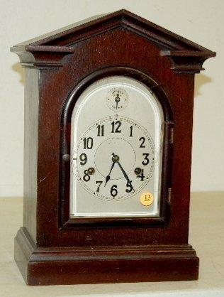13: German Chime Shelf Clock with Bar Strike