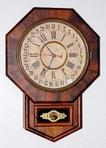 18: New Haven Short Drop Clock, Octagon Calendar