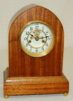 19: Waterbury Gothic Lyre Mantel Clock, T & S