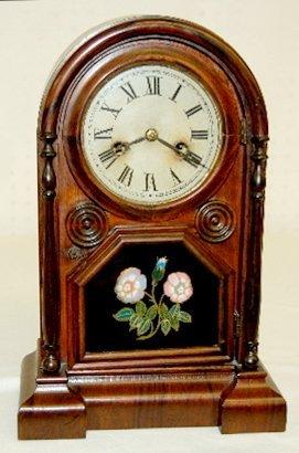 22: Welch Spring & Co. Round Top Shelf Clock, T & S