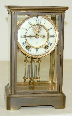"219: Ansonia Crystal Regulator ""Prism"" Clock"