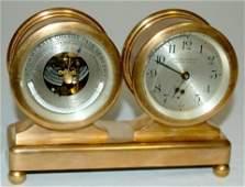 242A: Chelsea Desk Clock Barometer Set