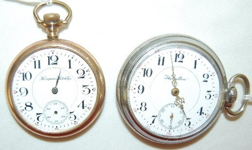 2: 2 Pocket Watches, Hamilton & Hampden