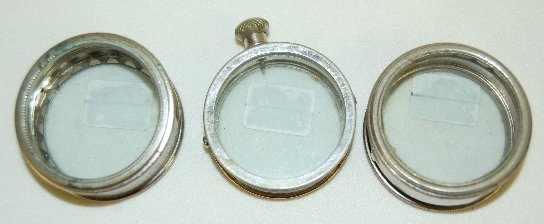 6: 3 Elgin & Waltham Watch Display Cases