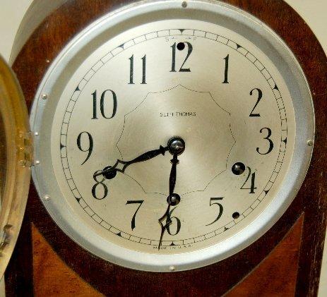 7: Seth Thomas #124 8 day Mantel Clock W/ Chime - 2