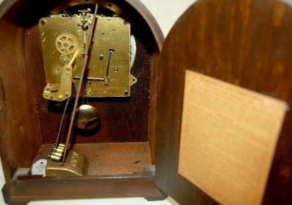 7: Seth Thomas #124 8 day Mantel Clock W/ Chime - 3