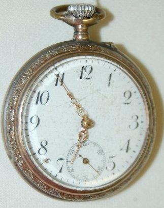 9: Galonne .800 Silver Pocket Watch