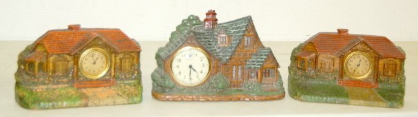 12: 3 Waterbury Lux & Crestwood Novelty Clocks