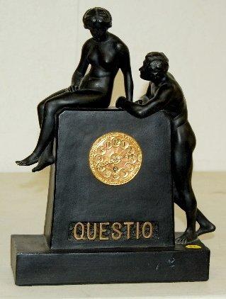 "14: Lenzkirch 1 Million ""Questio"" Figural Clock"