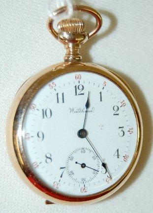 17: A.W.W.Co. Ladies Open Face Pocket Watch