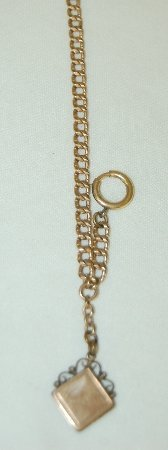 18: Old Watch Chain With Locket Fob