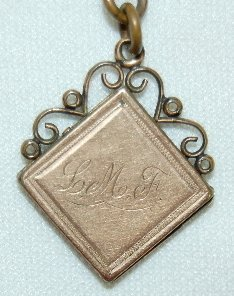 18: Old Watch Chain With Locket Fob - 2
