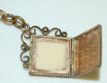 18: Old Watch Chain With Locket Fob - 3