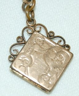 18: Old Watch Chain With Locket Fob - 4