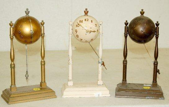 23: 3 Babe Ruth Baseball Desk Clocks