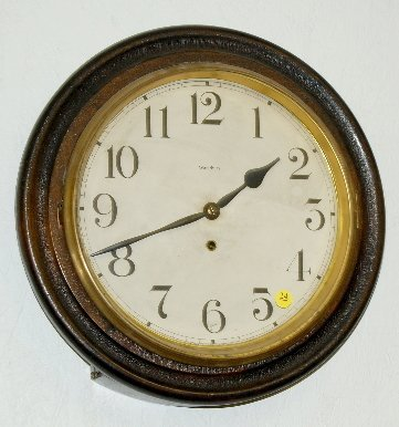"24: Waterbury Alpha Gallery Wall Clock, 16"""