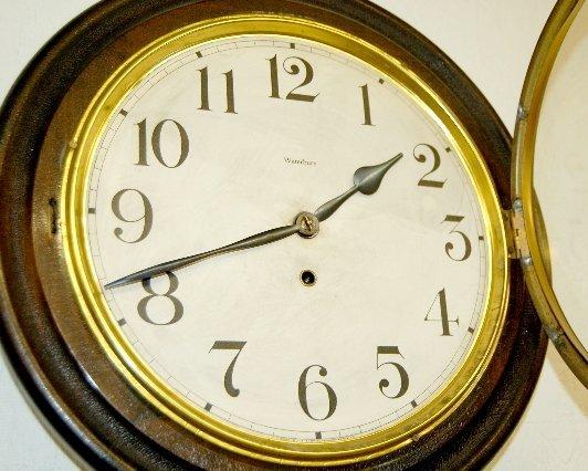 "24: Waterbury Alpha Gallery Wall Clock, 16""  - 2"
