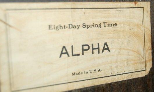 "24: Waterbury Alpha Gallery Wall Clock, 16""  - 4"