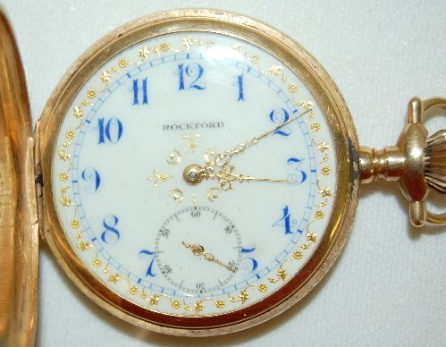 101: Rockford 14K, 16S, 17J Hunting Case Pocket Watch