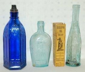 5: 4 Antique Bottles, 1890's-1930's, Kickapoo Indian